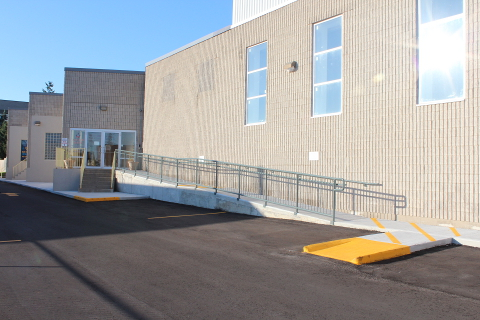 Main gym Entrance on West Side